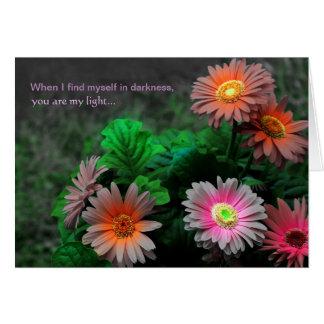 I Love You Appreciation Gerbera Daisy Floral Card