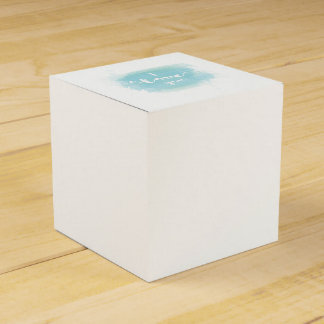 """""""I love you"""" baby blue calligraphy watercolor Favour Box"""
