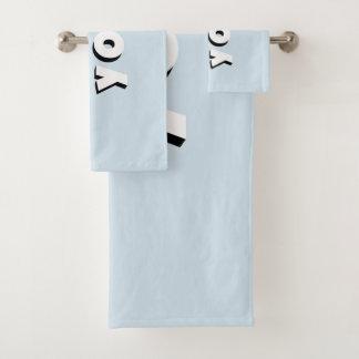 I love you! bath towel set