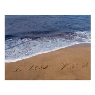 I love you ... beach love postcard