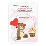 I love You Bear Valentine's Day Card 9 Cm X 13 Cm Invitation Card