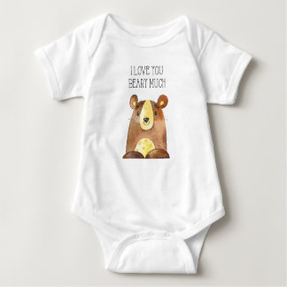 I Love You Beary Much, Woodland Bear Baby Grow Baby Bodysuit