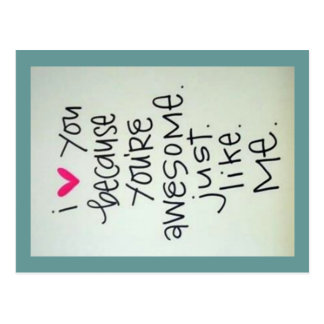 I Love You Because You Are Awesome Postcard
