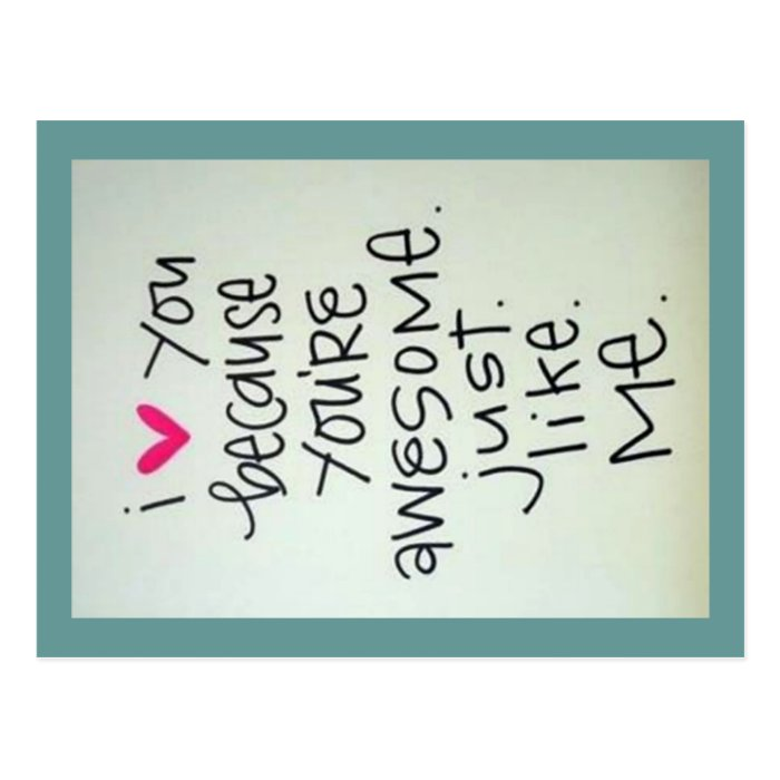 You Are Amazing And I Love You: I Love You Because You Are Awesome Postcard