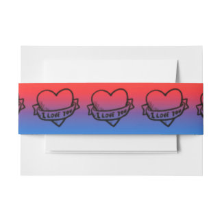 I Love You Belly bands Invitation Belly Band
