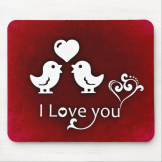 I Love You Birds Mouse Pad