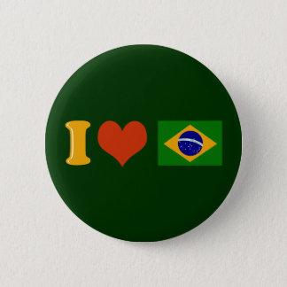 I love you Brazil 6 Cm Round Badge