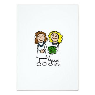 """I Love You Brides 5"""" X 7"""" Invitation Card"""