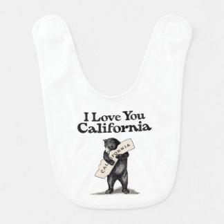 I Love You California Bear Hug Baby Bib