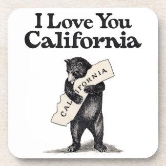 I Love You California Bear Hug Coaster