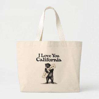 I Love You California Bear Hug Large Tote Bag