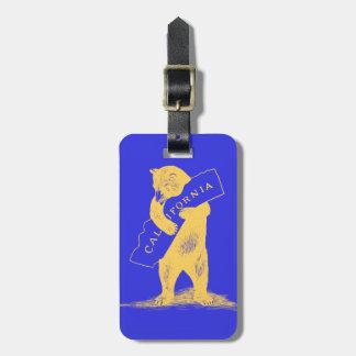I Love You California--Blue and Gold Luggage Tag
