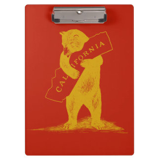 I Love You California--Red and Gold Clipboard