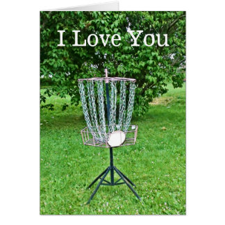 I Love You Card for a Disc Golfer