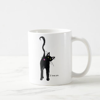 I Love You, cat. Coffee Mug
