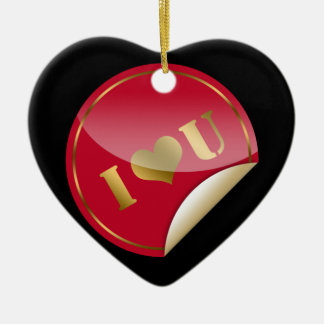 I Love You Ceramic Heart Decoration