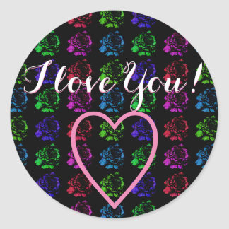 I Love You Classic Round Sticker