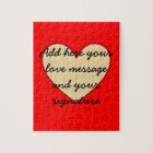 I Love You customisable message Jigsaw Puzzle
