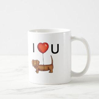 I LOVE YOU - Cute Dachshund MUG