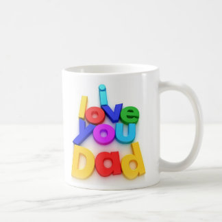 I love you Dad #1 Fathers Day Mug