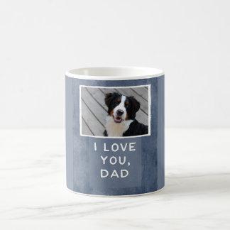 I Love You, Dad Custom Dog Photo Mug