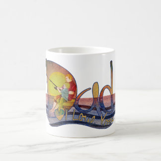 I love you Dad fishing artistic  text design mugs