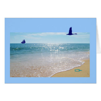 I love you dad! message in a bottle greeting card