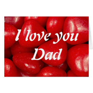 I love you Dad Note Card