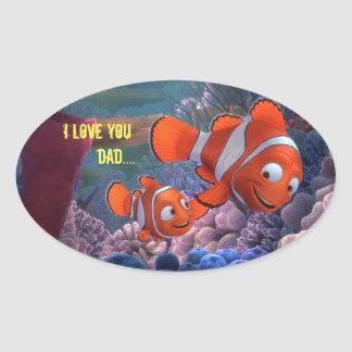 I Love you Dad.... Oval Sticker