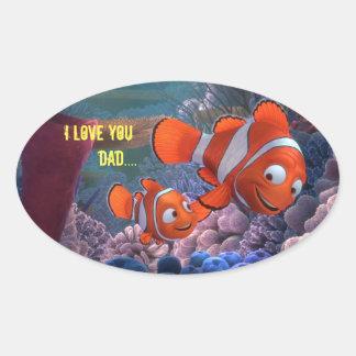 I Love you Dad.... Oval Sticker
