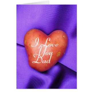I Love You Dad Personalized Father's Day card