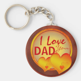I love you dad template keychains for fathers