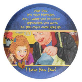 I love you dad template plates for Dad's Birthday
