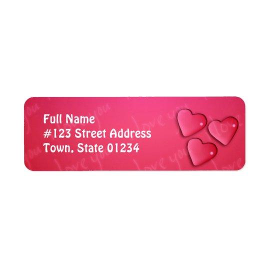 I Love You Design Return Address Label