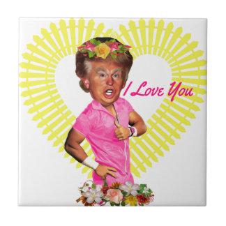 i love you donald trump ceramic tile