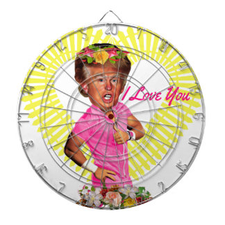 i love you donald trump dartboard