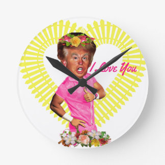 i love you donald trump round clock