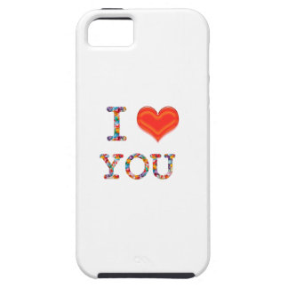 I LOVE YOU : Elegant Script of Love n Romance GIFT iPhone 5 Case
