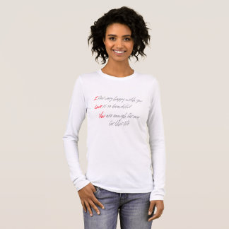 I Love You Expression Classy Design For Her Long Sleeve T-Shirt
