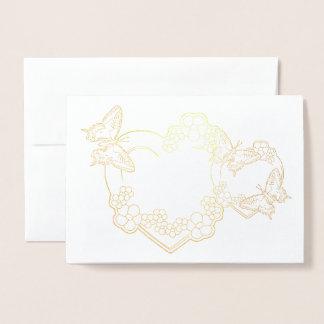 i love you foil card