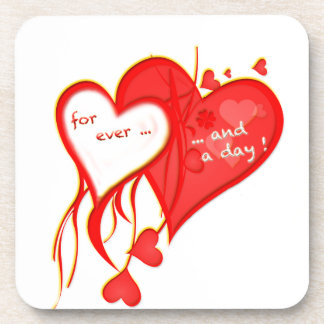 I LOVE YOU FOR EVER AND A DAY HEART DRINK COASTER