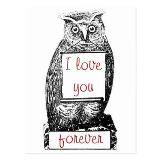 I love you, forever postcard