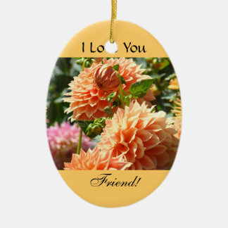 I Love You Friend floral oranment Holiday Friends Christmas Tree Ornament