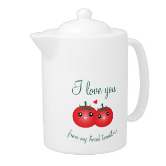 I Love You From My Head Tomatoes Funny Fruit Pun