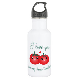 I Love You From My Head Tomatoes Funny Fruit Pun 532 Ml Water Bottle