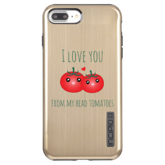 I Love You From My Head Tomatoes Funny Fruit Pun Incipio DualPro Shine iPhone 8 Plus/7 Plus Case