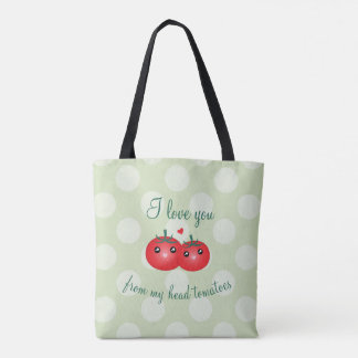 I Love You From My Head Tomatoes Funny Fruit Pun Tote Bag