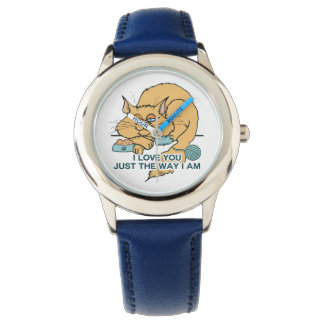 I Love You Funny Cat Graphic Saying Wristwatch