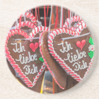 I Love You Gingerbread Hearts At The Holiday Coasters