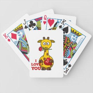 i love you giraffe bicycle playing cards